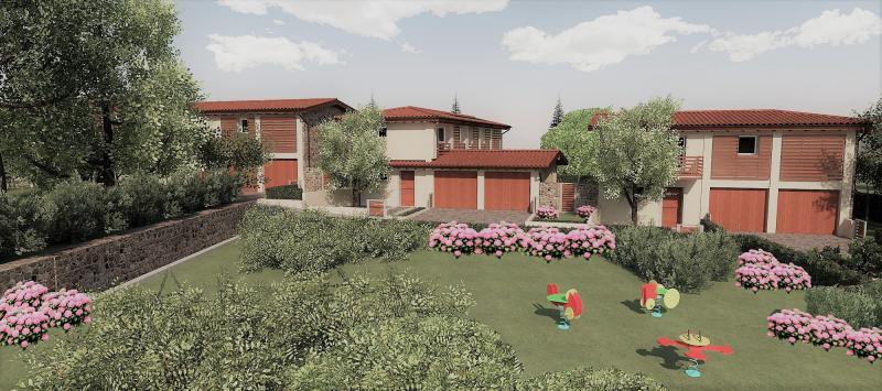 Quattro nuove unità residenziali, pensate come rustici annessi ad un'antica cascina