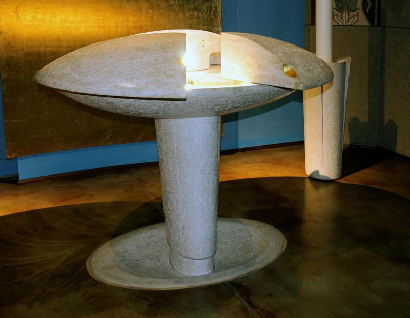 Santa Brigida - Fonte battesimale