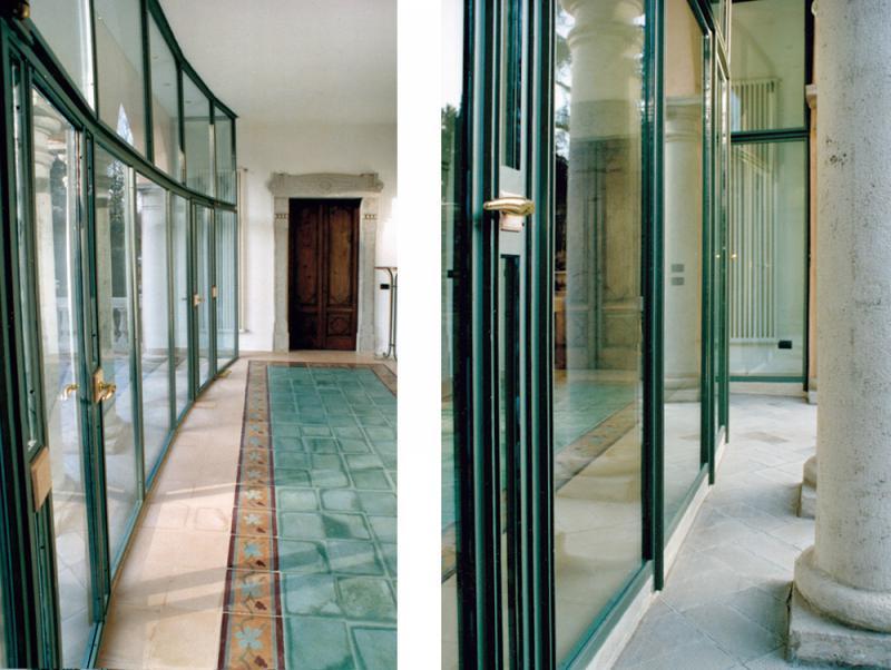 Villa eclettica - Vetrata